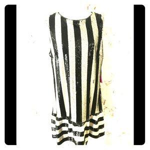 Betsy Johnson Dress size 14 sequin. Black/white